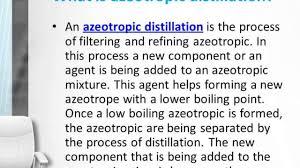 Azeotropic Distillation Youtube