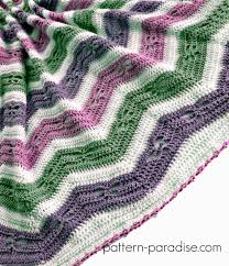Free Crochet Pattern: Dragonfly Chevron Baby Blanket   Pattern ... & Free Crochet Pattern Dragonfly Chevron Baby Blanket on Pattern-Paradise.com  #crochet # Adamdwight.com