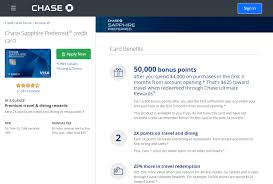 promoted chase sapphire credit card apply now screenshot