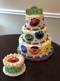 Sesame Street First Birthday Cake And Smash Cake By Valerie Ocakes
