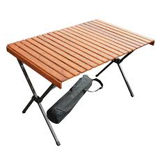 remarkable decoration portable wood table large wood picnic portable table in a bag 43x27x27china