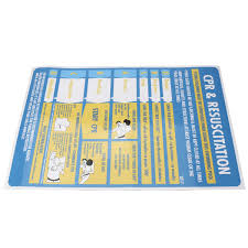 1pc Plastic Cpr Resuscitation Chart Professional Swimming Pool Spa Safety Wall Sign Stickers 600mmx400mm