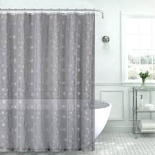 grey linen ruffle shower curtain dark light fabric sheer gray silver embroidered bathrooms adorable