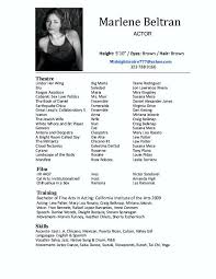 Actors Resume Format Classy Actor Resumes Acting Pinterest Acting Resume Template High