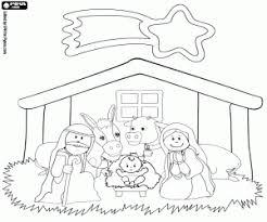 Het Kindje Jezus In De Kribbe Kleurplaat Kerst Jesus Para