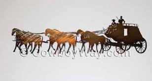 stagecoach metal wall art on cowboy metal wall art with cowboy metal wall art