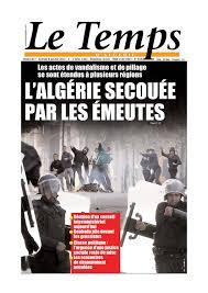 Calam O Le Temps D Alg Rie Edition Du Samedi 08 Janvier 2011