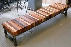 reclaimed wood bench it has a modern feel with wonderful array of earth tones love it reclaimed wooden bench l39 reclaimed