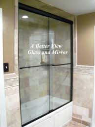 exciting arizona glass shower doors custom glass shower door installed in 3 8 glass sliding door