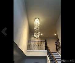 Großhandel Treppenhaus 3 Sphere Und 2 Spirale Regen Drop Clear Led K9 Moderne Kristall Kronleuchter Licht Leuchte Für Treppenhaus Von Lovea 85428