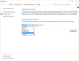 how to change text size how to change text sizes and fonts in windows 10