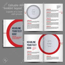 Design Spreads A4 Booklet Layout Design Template With Cover And 2 Spreads Of