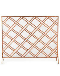 layla fireplace screen regarding gold design 16