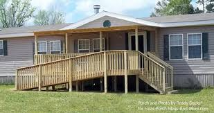 7b manufactured home covered porch and deck ideas