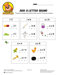 Each sheet provides activities for letter sound learning, letter formation, blending and segmenting. Add A Letter Sound Phonics Worksheet
