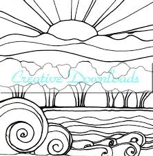 Small Picture Drawn sunset coloring page Pencil and in color drawn sunset