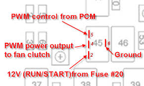 replace fan clutch and its still fully engaged chevy 2007 Trailblazer Ss Fuse Box Diagram you may have a bad fuse, relay, wiring from the pcm to the fuse block, or wiring from the fuse block to the fan clutch 2002 Chevy Trailblazer Fuse Box Diagram