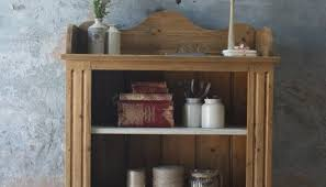 vintage pine open shelf unit or bookcase with painted shelves