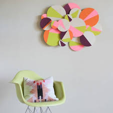 3d colorblock wall art this 3d circle installation proves that when it comes to color block it s not always hip to be square via curbly  on 100 creative diy wall art ideas with 100 creative diy wall art ideas to decorate your space brit co