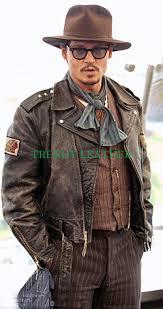 jonny depp classic distressed real leather jacket