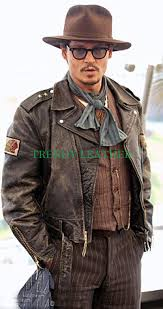 jonny depp classic distressed real leather jacket