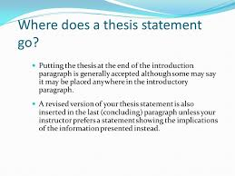 pascohernando community college tutorial series academic essays  where does a thesis statement go putting the thesis at the end of the introduction