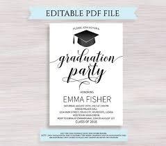 celebration invite graduation party invitation editable graduation invitation