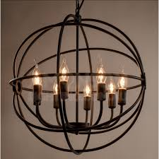 home and furniture adorable iron orb chandelier on foucault s black replica iron orb chandelier