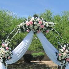 Wedding Arch Decorations 75 Ft White Metal Tall Arch Wedding Garden Bridal Party
