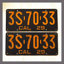 maryland motor vehicle registration renewal imprea net dmv decals 1929 california license plates pair original dmv clear yom