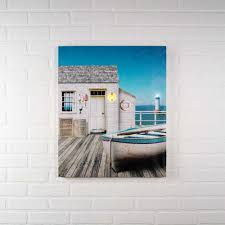 lighted canvas pictures the dock house