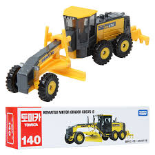 takara tomy tomica 140 komatsu motor grader gd675 6 minicar toy 4904810862000 ebay