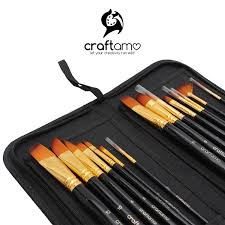 art paint brush set for watercolor acrylics oil face painting