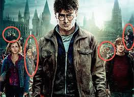discussion visual analysis of the harry potter posters figure 4 additional characters in the background of the deathly hallows part 1 poster