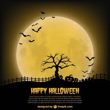 Happy Halloween Poster Template With Moon Vector Free Download