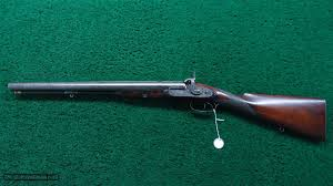 VERY RARE WESLEY RICHARDS 8 GAUGE DOUBLE BARREL PERCUSSION RIFLE for sale