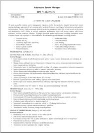 Technical Services Manager Resume Example Auto Service Resumes Yun56