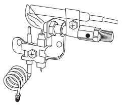oxygen depletion sensor pilot assembly for gas log fireplace