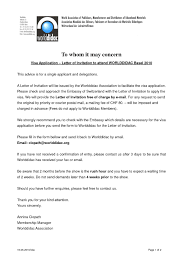 Sample Invitation Letter For Uk Family Visitor Visa Lv Crelegant Com