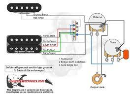 guitar wiring diagrams 1 humbucker 1 single coil 1 humbucker 1 single coil 3 way lever switch 1 volume 1 tone 02