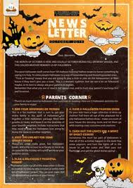 october newsletter ideas free teacher newsletter templates downloads newsletter templates