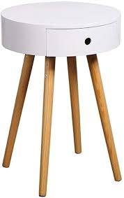 small round bedside tables