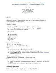 Resume For Medical Receptionist Resume Medical Receptionist Resume 22