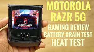 Motorola RAZR 5G Gaming Review, Battery Drain Test, Heat Test - YouTube