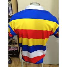 medium us capbreton ecole de rugby as hossegor red blue white stripe jersey