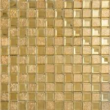 gold mirror glass diamond crystal tile