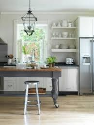 Portable kitchen islands with breakfast bar