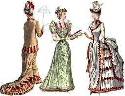 women s fashions of the victorian era from hoop skirts to bustles  from victorian fashion plate first is early 1880 s daywear dress center an 1880 s evening