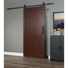 Erias Home Designs Barn Door Spectrum Millbrooke Pvc 42 Inch X 84 Inch H Style Barn Door