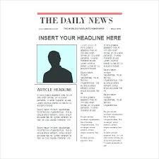 Kids Newspaper Template Blank Newspaper Template Design Format Newspaper Template For Kids